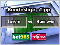 Bundesliga Tipp Bayern vs Hannover