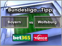 Bundesliga Tipp Bayern vs Wolfsburg