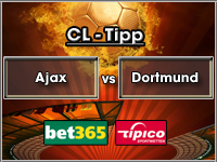 Champions League Tipp Ajax Amsterdam vs Dortmund