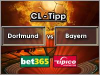 Champions League Tipp Dortmund vs Bayern