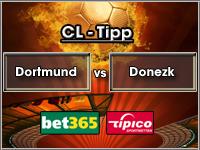 Champions League Tipp Dortmund vs Schachtjor Donezk