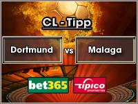 Champions League Tipp Dortmund vs Malaga