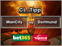 Champions League Tipp Manchester City vs Dortmund