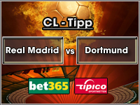 Champions League Tipp Real Madrid vs Dortmund