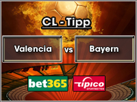 Champions League Tipp Valencia vs Bayern