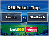 DFB Pokal Tipp Hertha vs Gladbach