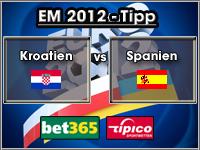 EM 2012 Tipp Kroatien vs Spanien