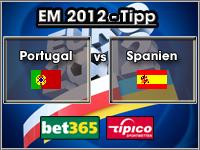 EM 2012 Tipp Portugal vs Spanien