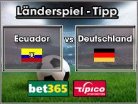 Länderspiel Tipp Ecuador vs Deutschland