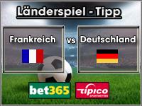 Länderspiel Tipp Frankreich vs Deutschland