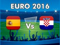 Kroatien - Spanien EM 2016