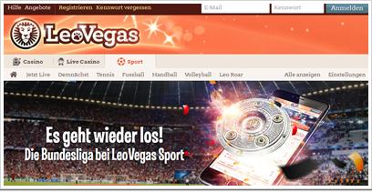 LeoVegas Webseite