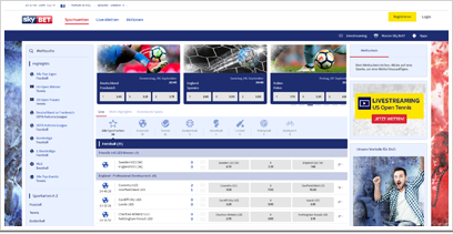 SkyBet Webseite