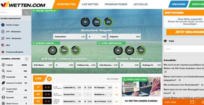 Wetten.com Webseite