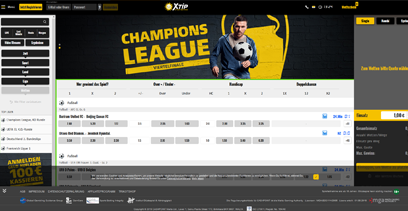 Merkur Sports Webseite