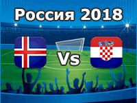 Island - Kroatien, WM 2018