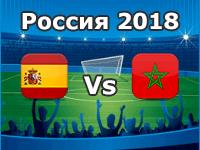 Spanien - Marokko, WM 2018
