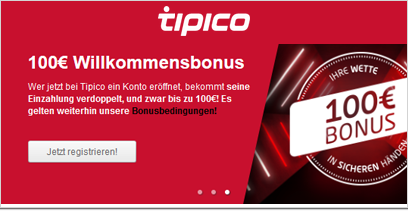 Tipico Willkommensbonus
