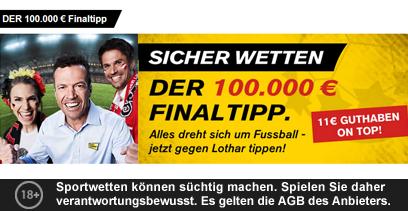 Interwetten 100.000€ EM FinalTipp