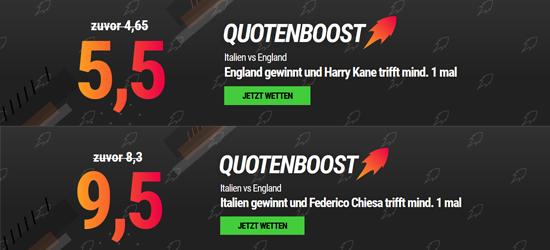 Neobet Italien - England Wetten Angebot