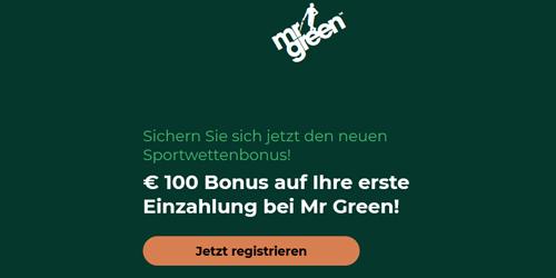 Mr Green Champions League Wetten Bonus